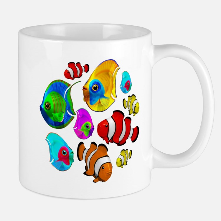 Tropical Fishes Pattern Mugs