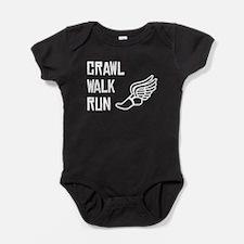 Crawl Walk Run Baby Bodysuit
