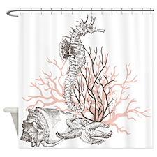 Ocean Gems In Coral Shower Curtain