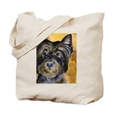 Black terrier tote Canvas Totes