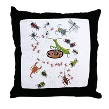 Cute Insect Throw Pillow