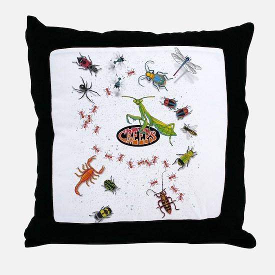 Cute Beetle Throw Pillow