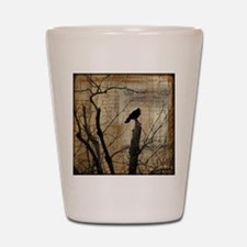 Crow Collage Shot Glass