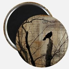 Crow Collage Magnet