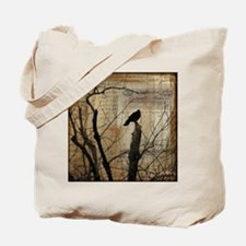 Crow Collage Tote Bag