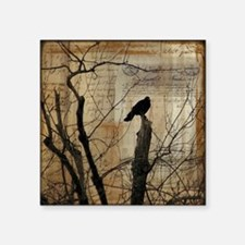 "Crow Collage Square Sticker 3"" x 3"""