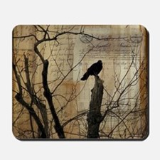 Crow Collage Mousepad