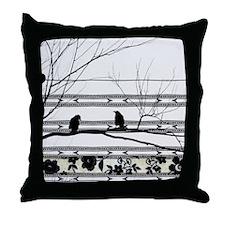 Two Love Birds Throw Pillow