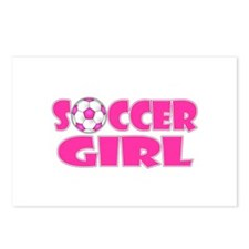 Soccer Girl Pink Postcards (Package of 8)