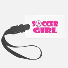 Soccer Girl Pink Luggage Tag