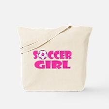 Soccer Girl Pink Tote Bag