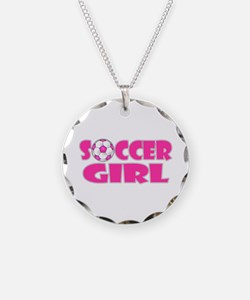 Soccer Girl Pink Necklace