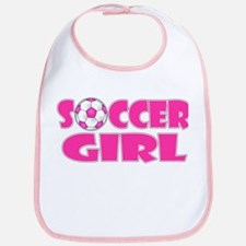 Soccer Girl Pink Bib