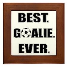 Best. Goalie. Ever. Framed Tile