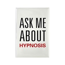 Ask Me About Hypnosis Rectangle Magnet