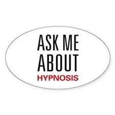 Ask Me About Hypnosis Oval Decal