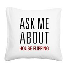 askhouse.png Square Canvas Pillow