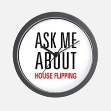 Ask Me House Flipping Wall Clock
