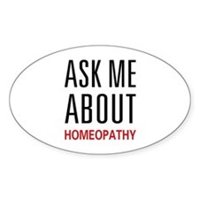 Ask Me Homeopathy Oval Decal