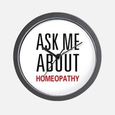 Ask Me Homeopathy Wall Clock