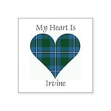 "Heart - Irvine Square Sticker 3"" x 3"""