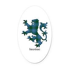 Lion - Irvine Oval Car Magnet
