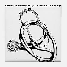 Custom Stethoscope Tile Coaster