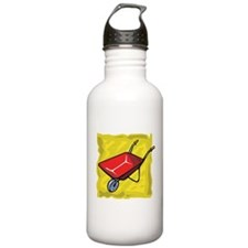 Red Wheelbarrow Water Bottle