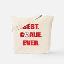 Best. Goalie. Ever. Red Tote Bag