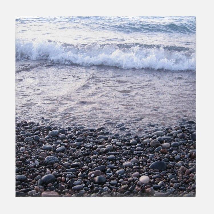 Beach Waves 01 Tile Coaster