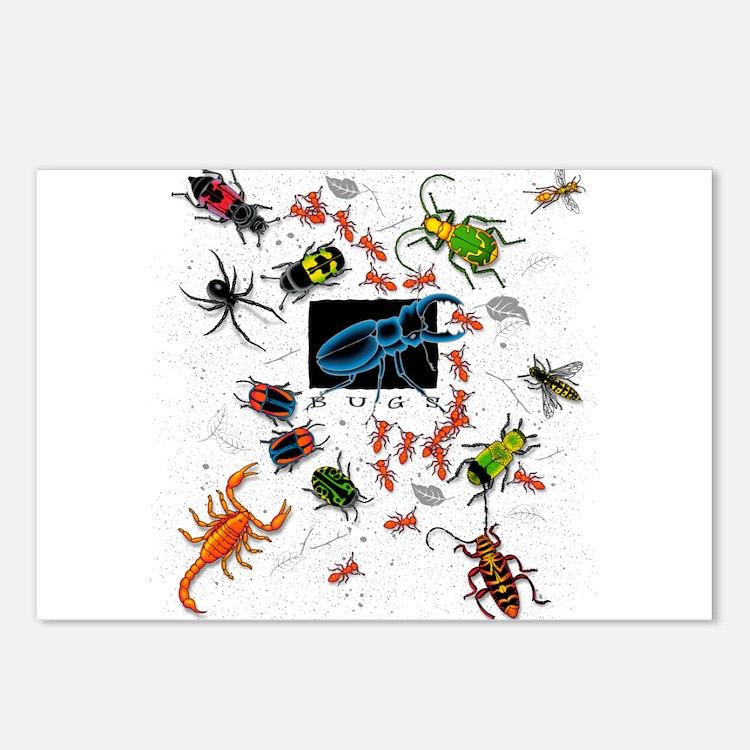Cute Bugs Postcards (Package of 8)