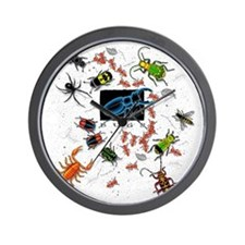 Cute Bugs Wall Clock