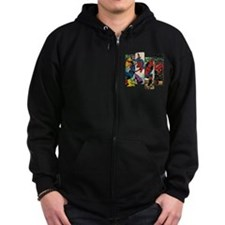 Spiderman Comic Panel Zip Hoodie