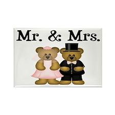 Wedding Bears Rectangle Magnet (100 pack)