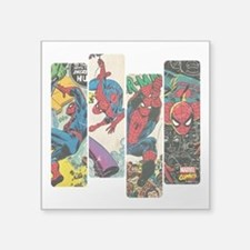 "Spiderman Comic Panel Square Sticker 3"" x 3"""
