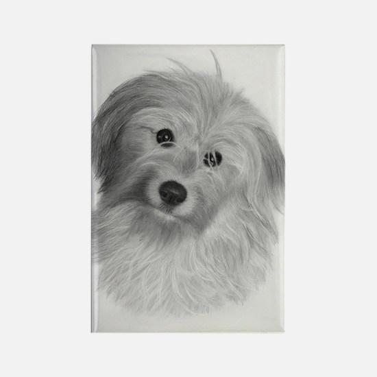 Funny Dog breed art Rectangle Magnet