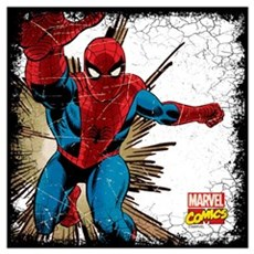 Spidey Retro Grunge Wall Art Poster