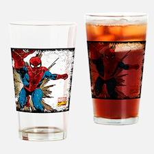 Spidey Retro Grunge Drinking Glass