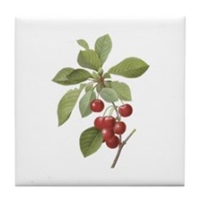 Vintage Cherries Tile Coaster