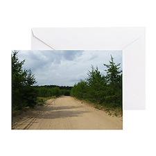 Dirt Road Michigan Greeting Card