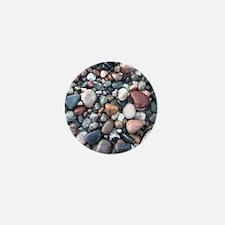 wet rocks in michigan Mini Button