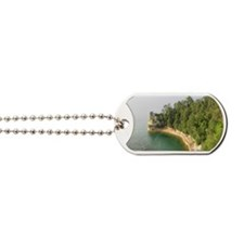 michigan picture rocks Dog Tags