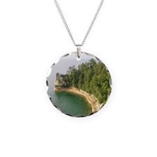 michigan picture rocks Necklace Circle Charm
