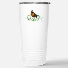 Beautiful Robin Stainless Steel Travel Mug