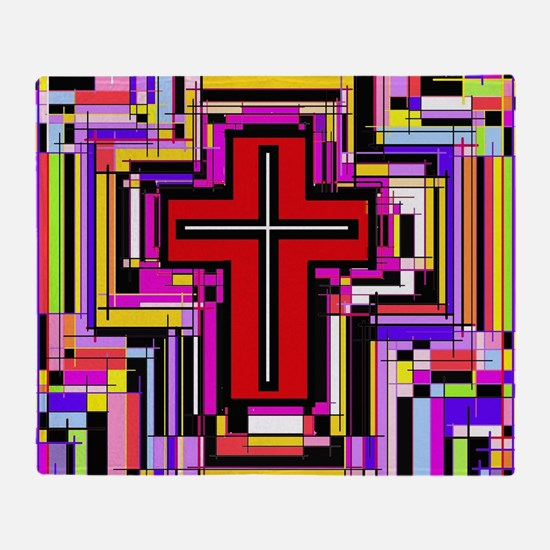The Christian Holly Cross. Throw Blanket