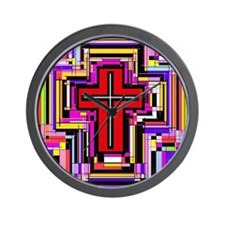 The Christian Holly Cross. Wall Clock