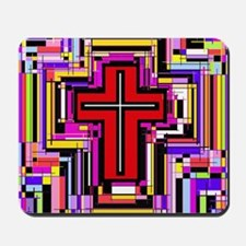 The Christian Holly Cross. Mousepad