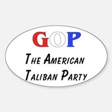 GOP American Taliban Oval Decal