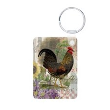 Vintage Rooster French Collage Keychains