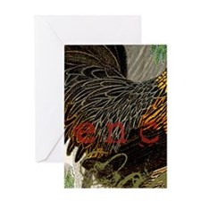 Vintage Rooster French Collage Greeting Cards
